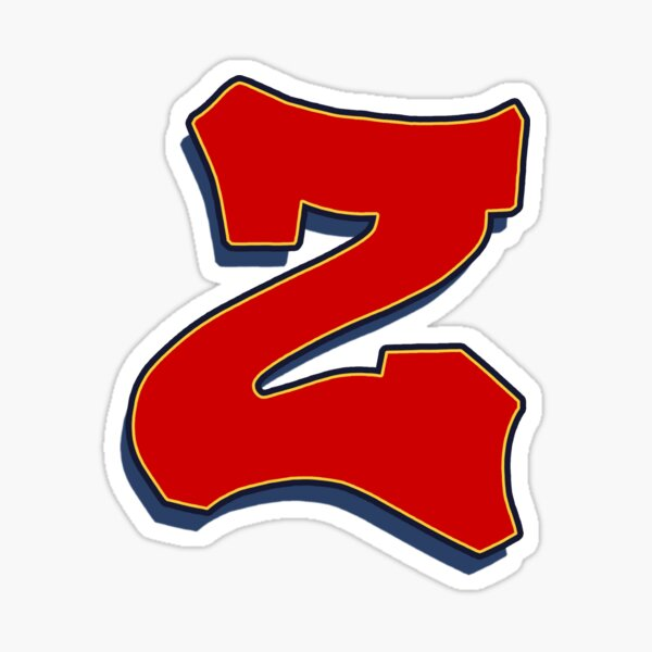 Letter Z - Red Sticker