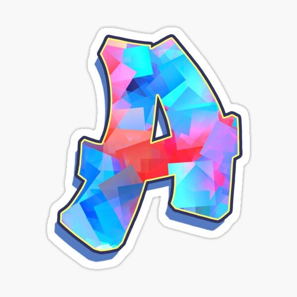Letter A - Color Mix Sticker