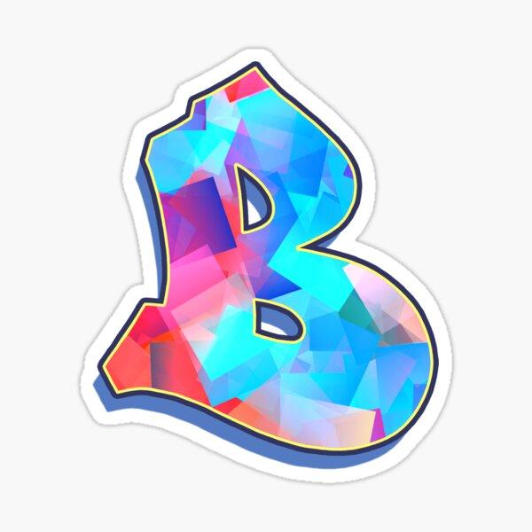 Letter B - Color Mix Sticker
