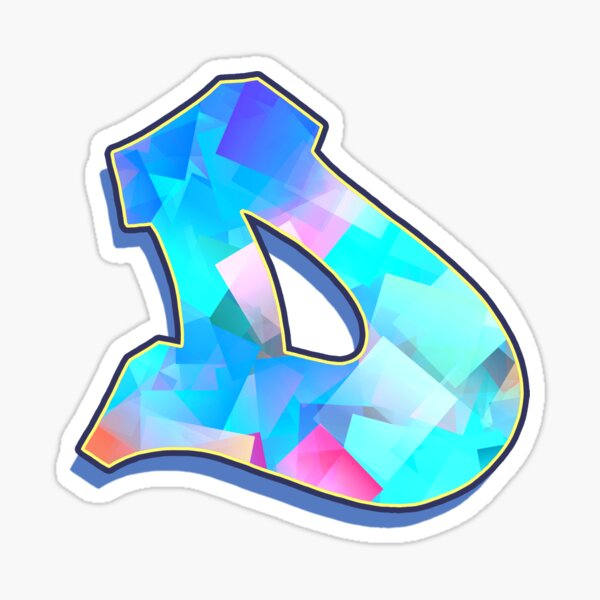Letter D - Color Mix Sticker
