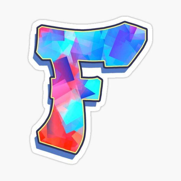 Letter F - Color Mix Sticker