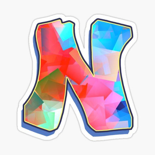 Letter N - Color Mix Sticker