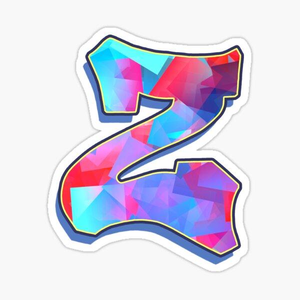 Letter Z - Color Mix Sticker