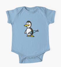 Funny penguin & fish Kids Clothes