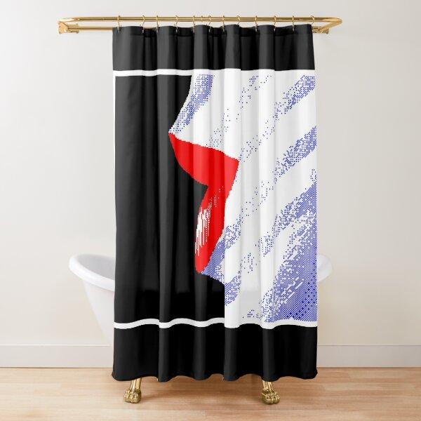 Pixel Art Lips Graphic Shower Curtain