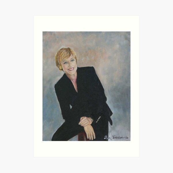 Ellen Degeneres. Art Print