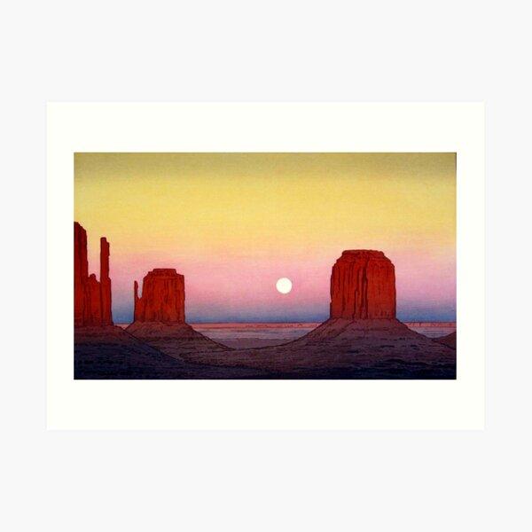 Monument Valley by Yoshida Hiroshi Art Print