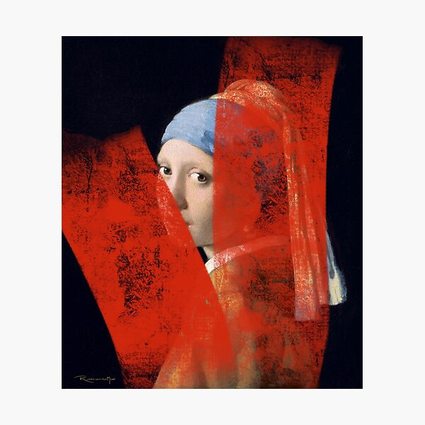Girl with the pearl earring Photographic Print