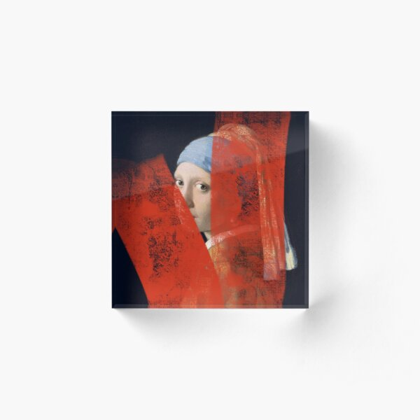 Girl with the pearl earring Acrylic Block