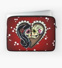 Ashes - Day of the Dead Couple - Sugar Skull Lovers Laptop Sleeve