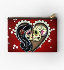 Ashes - Day of the Dead Couple - Sugar Skull Lovers Studio Pouch