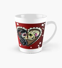 Ashes - Day of the Dead Couple - Sugar Skull Lovers Tall Mug