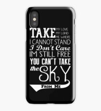 Firefly Theme song quote (white version) iPhone Case