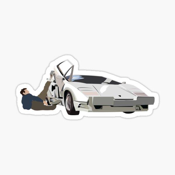 Wolf of Wall Street Lamborghini Countach Jordan Belfort Sticker