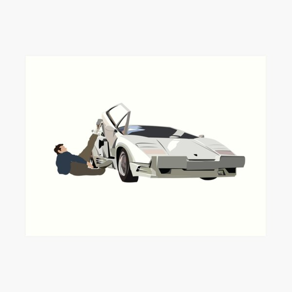 Loup de Wall Street Lamborghini Countach Jordanie Belfort Impression artistique