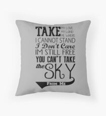 Firefly Theme song quote Throw Pillow