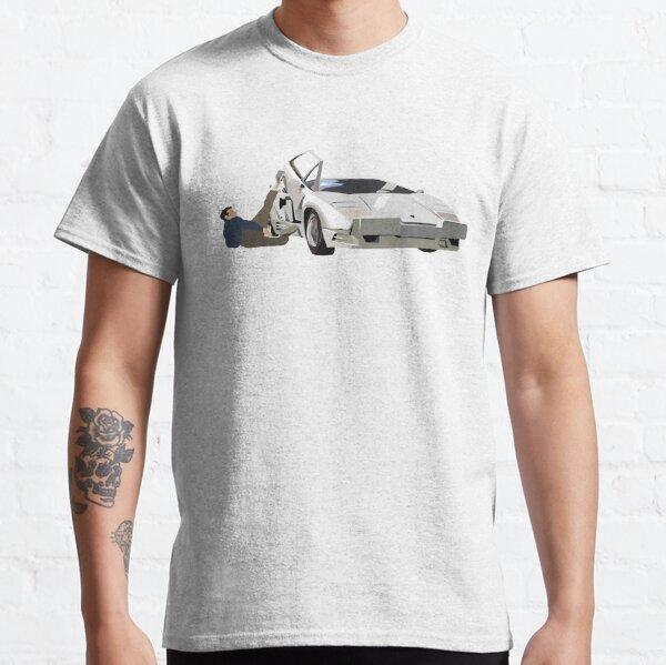 Lobo de Wall Street Lamborghini Countach Jordan Belfort Camiseta clásica