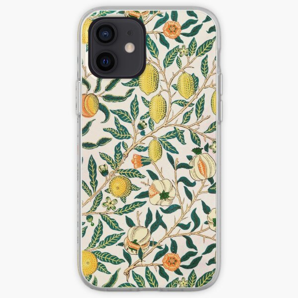 William Morris Pattern - Fruits iPhone Soft Case