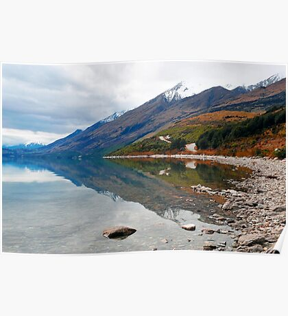On the way to Glenorchy from Queenstown. South Island, New Zealand. (2) Poster