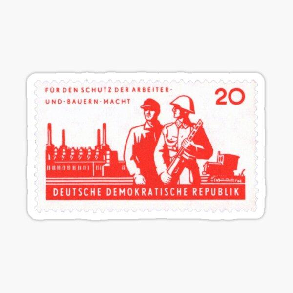 East German Visual Workers Militia Sticker