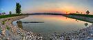 Rocky Mountain Sunset Series - Orange Sky Panorama by Jonathan Bartlett