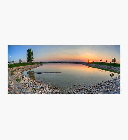 Rocky Mountain Sunset Series - Orange Sky Panorama Photographic Print