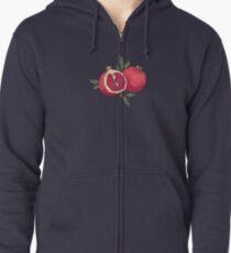 Juicy pomegranate fruits Zipped Hoodie