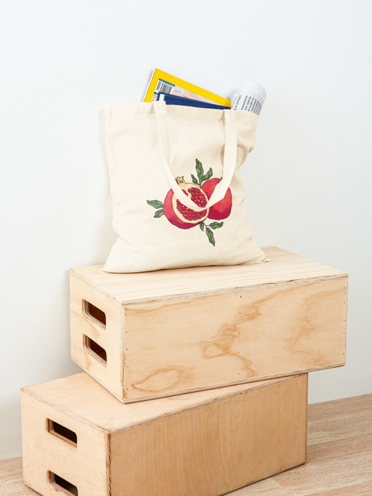 Alternate view of Juicy pomegranate fruits Tote Bag