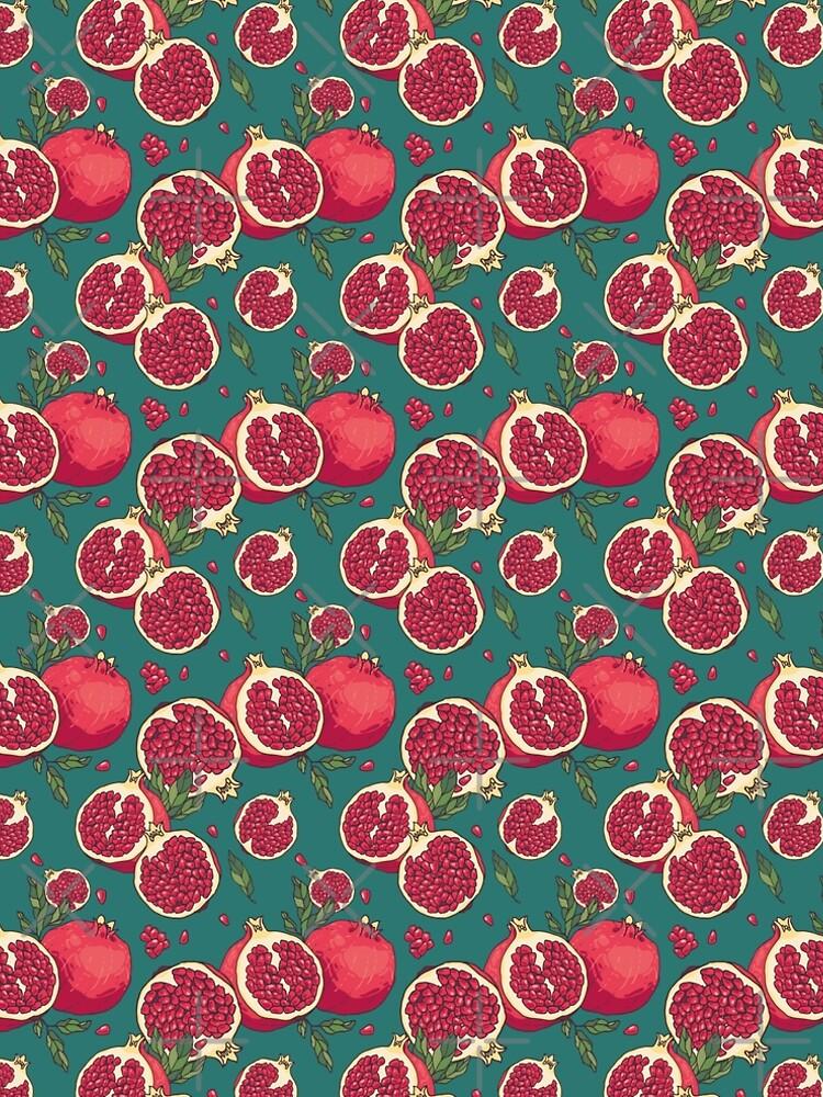 Juicy pomegranate fruits by Zhivova