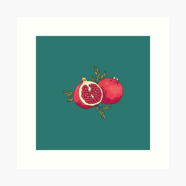 Juicy pomegranate fruits Art Print