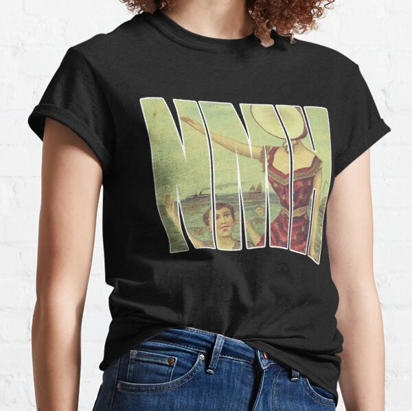 Neutral Milk Hotel - White Outline Classic T-Shirt