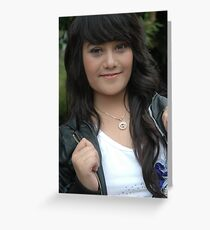 young lady Greeting Card