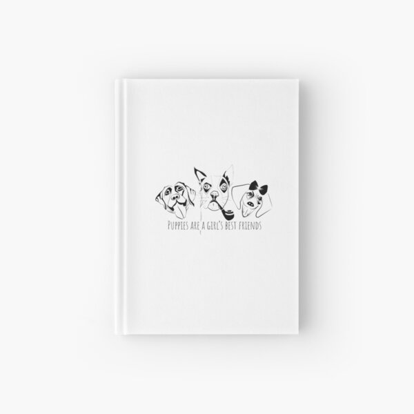 Puppies are a girl's best friends 3 dogs Hardcover Journal