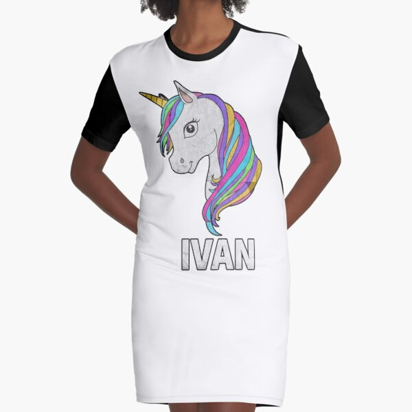 Unicorn Ivan - Special Personalised Gift For Ivan Graphic T-Shirt Dress