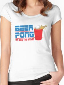 Funny Shirt - Beer Pong  Women's Fitted Scoop T-Shirt
