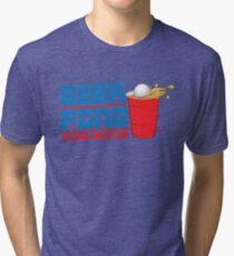Funny Shirt - Beer Pong  Tri-blend T-Shirt