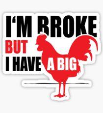 Funny Shirt - I'm Broke Sticker