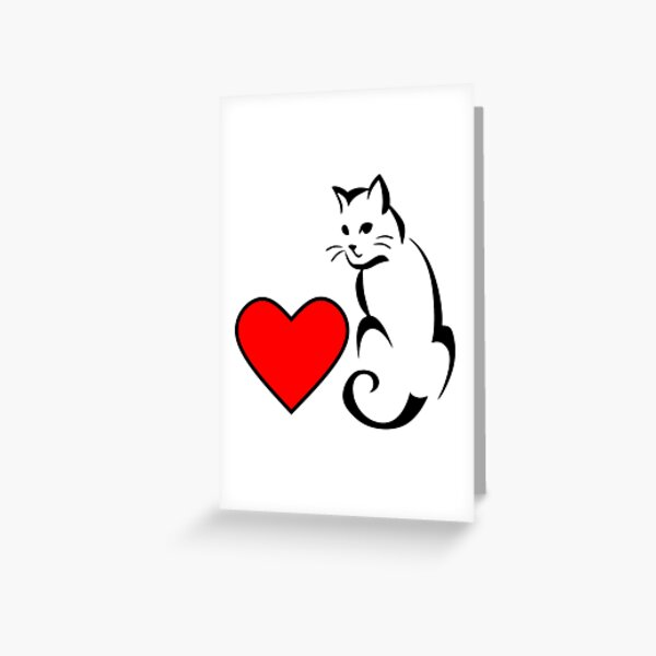 Cat lover I love cats Greeting Card