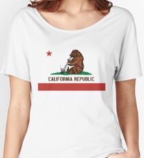 Funny Shirt - California State Flag Women's Relaxed Fit T-Shirt