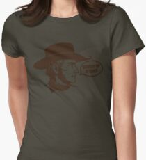 Funny Shirt - Cowboy Up Womens Fitted T-Shirt