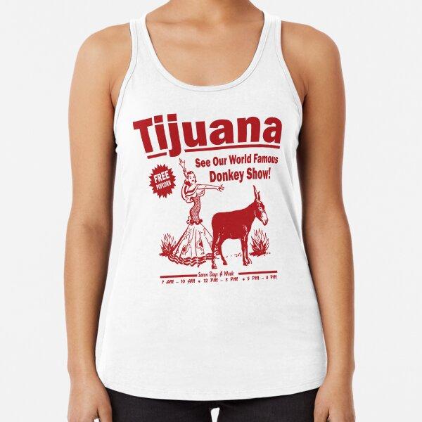 Funny Shirt - Tijuana Donkey Show Racerback Tank Top