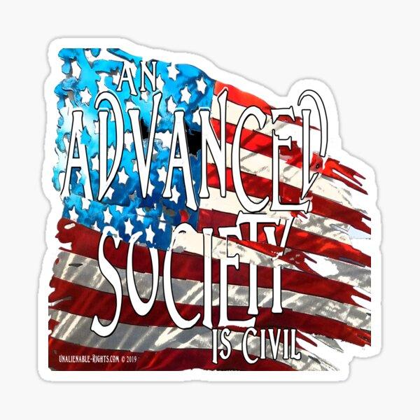 Advanced Society Sticker