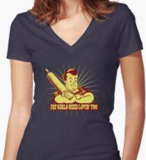 Funny Shirt - Fat Girls Women's Fitted V-Neck T-Shirt