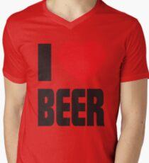 Funny Shirt - I Love Beer Mens V-Neck T-Shirt