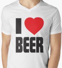 Funny Shirt - I Love Beer Men's V-Neck T-Shirt