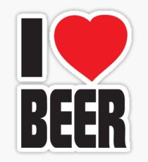 Funny Shirt - I Love Beer Sticker