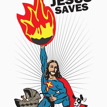 Funny Shirt - Jesus Saves by MrFunnyShirt