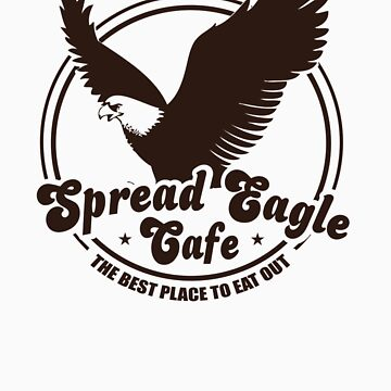 Funny Shirt - Spread Eagle Cafe by MrFunnyShirt