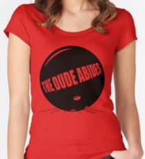 Funny Shirt - The Dude Abides Women's Fitted Scoop T-Shirt