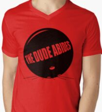 Funny Shirt - The Dude Abides Mens V-Neck T-Shirt